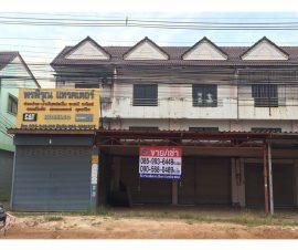 ขายและให้เช่าอาคารพาณิชย์ 2 คูหา โซนบ่อวิน ต.บ่อวิน อ.ศรีราชา จ.ชลบุรี (I-Net : 573955)